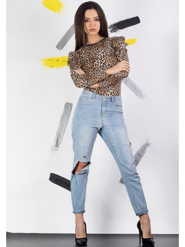Bluza cu imprimeu animal print Moze