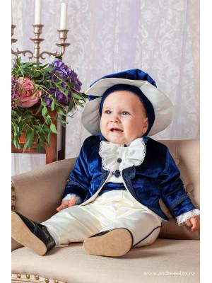 Costum micul print bleumarin (3 luni-6luni) Andreeatex