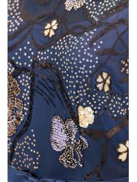 Rochie de seară cu motive florale din paiete