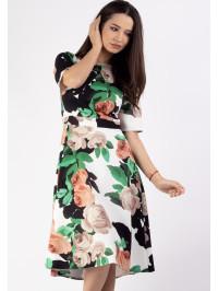 Rochie clos print floral Verde Moze